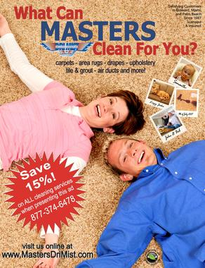 Master Drimist Carpet &amp; Upholstery Cleaning