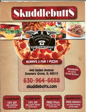 Skuddlebutts Pizza &amp; Catering