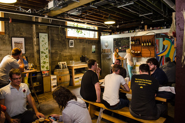 Upright Brewing Tasting Room