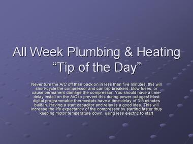 All Week Plumbing &amp; Heating